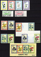 Isle Of Pabay/Jethou Canceled Stamps And Sheet With Flowers - Local Issues