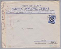 Kroatien 1941-06-04 Osijek Zensurbrief Nach Wien - Croatie