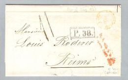 Lettland 1867-03-7/19 Brief BMO Riga > Reims France - Lettonie
