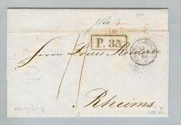 Lettland 1860-11-30 Brief BOM Riga > Reims Champagne - Lettonie