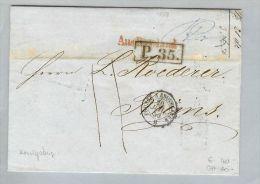 Lettland 1859-07-04 Brief BMO Riga>Reims France - Lettonie