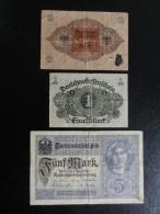 Billets De1, 2 , 5 Marks (1917 Et 1920) - Allemagne