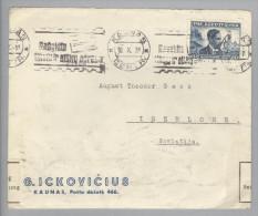 Litauen 1939-10-10 Kaunas Devisenüberwachung Br.n.Iserlohn M.60Cent Turnzensur? - Lituanie