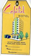 6 Hotel Labels Bagage Lugage Labels  Hong Kong - Capital Imperial - ETIKETTEN Sticker Very Good Condition - Authentic - Hotel Labels