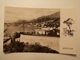Carte Postale - MENTON (06) - Vue Générale Et Bâtiment Des Douanes Françaises (253/100) - Menton