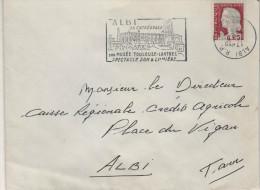 "Lettre Flamme Curiosité Albi RP 15-5 1961"" Tête Bêche, Timbre à Date Renversée Sauf L'année 1961 "" - Abarten Und Kuriositäten"