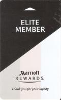 TARJETA DE HOTEL MARRIOTT (KEY CARD-LLAVE) ELITE MEMBER - Cartas De Hotels