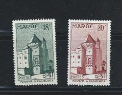 OA 6597 / MAROC 1955 - Yvert 355 à 356 ** - Mahakma De Casablanca - Maroc (1956-...)