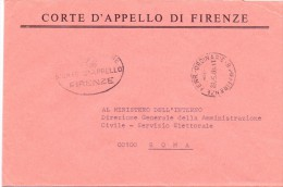 CORTE D´APPELLO DI FIRENZE. - 50100 - FIRENZE - LS - 1980 - FTO 12X17 - TEMATICA TOPIC STORIA COMUNI D´ITALIA - Affrancature Meccaniche Rosse (EMA)