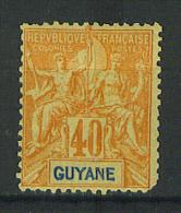 VEND TIMBRE DE GUYANE FRANCAISE N° 39 , NEUF !!!! - Guyane Française (1886-1949)