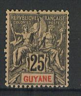 VEND TIMBRE DE GUYANE FRANCAISE N° 37 , NEUF !!!! - Guyane Française (1886-1949)