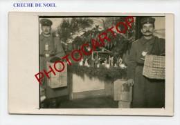 CRECHE Et COLIS De NOEL-Soldats-CARTE PHOTO Allemande-Guerre 14-18-1 WK-Militaria - Oorlog 1914-18