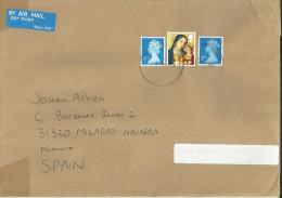 GRAN BRETAÑA CC SELLOS MACHIN NAVIDAD ARTE PINTURA - Madonnas