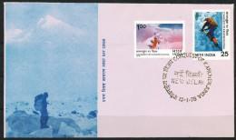 INDIEN -FDC   Mi.Nr.   747 - 748  -   Besteigung Des Kangchendzönga - FDC