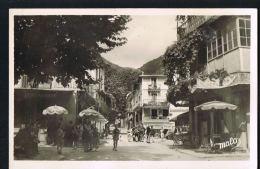 LUCERAM -O6-  La Place -Commerces-   Animée- Cpsm Edit Malo /RECTO VERSO - Lucéram