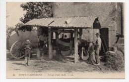 TYPES D'AUVERGNE N° 45 - FERRAGE D'UNE VACHE - FERME / MARECHAL FERRAND / METIER / AGRICULTURE / PAYSANS - Auvergne Types D'Auvergne