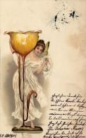 CPA   ALLEMAGNE---ANGE SUR UNE COUPE ?---1901 - Illustrateurs & Photographes