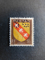 FRANCE N° 757 Armoirie SG 95  1946 Perforé Perforés Perfins Perfin  Tres Bien !! - France