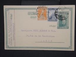 TURQUIE-Entier Postal +complément De Constantinople Pour Paris En 1927   à Voir P6292 - Interi Postali