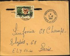 Enveloppe 1964 - 1 Timbre Cote D'Ivoire - - Côte D'Ivoire (1960-...)