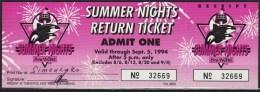Sea World Summer Nights   USA 1994 - Tickets - Vouchers