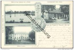 Gruss Aus 19071 Cramon B. Warnitz I.M. - See - Schloss - Gastwirtschaft Christ Bobzin - Allemagne