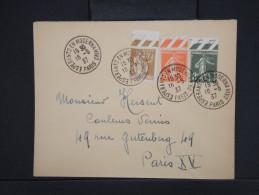 """ESPERANTO-Oblitération """" Esperanto En Modernavivo De Paris 1937"""" Sur Enveloppe Pour Paris Aff Plaisant  à Voir P6295 - Esperanto"""
