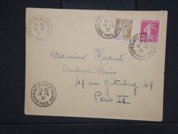 """ESPERANTO-Oblitération """" Esperanto En Moderna Vivo De Paris 1937"""" Sur Enveloppe Pour Paris Aff Plaisant  à Voir P6296 - Esperanto"""