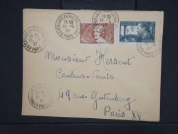 """ESPERANTO-Oblitération """" Esperanto En Moderna Vivo De Paris 1937"""" Sur Enveloppe Pour Paris Aff Plaisant  à Voir P6302 - Esperanto"""