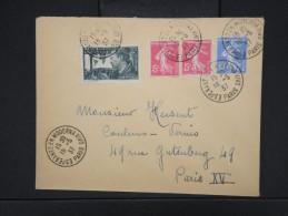 """ESPERANTO-Oblitération """" Esperanto En Moderna Vivo De Paris 1937"""" Sur Enveloppe Pour Paris Aff Plaisant  à Voir P6304 - Esperanto"""