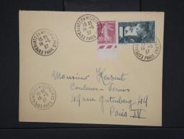"""ESPERANTO-Oblitération """" Esperanto En Moderna Vivo De Paris 1937"""" Sur Enveloppe Pour Paris Aff Plaisant  à Voir P6305 - Esperanto"""