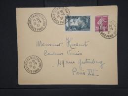 """ESPERANTO-Oblitération """" Esperanto En Moderna Vivo De Paris 1937"""" Sur Enveloppe Pour Paris Aff Plaisant  à Voir P6306 - Esperanto"""