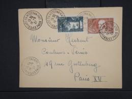 """ESPERANTO-Oblitération """" Esperanto En Moderna Vivo De Paris 1937"""" Sur Enveloppe Pour Paris Aff Plaisant  à Voir P6307 - Esperanto"""