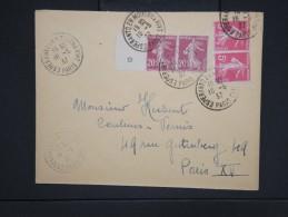 """ESPERANTO-Oblitération """" Esperanto En Moderna Vivo De Paris 1937"""" Sur Enveloppe Pour Paris Aff Plaisant  à Voir P6308 - Esperanto"""