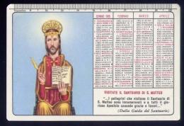 Calendarietto - Santino - Visitate Il Santuario Di S.matteo - 1966 - Calendriers