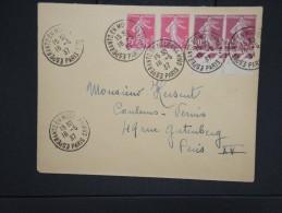 """ESPERANTO-Oblitération """" Esperanto En Moderna Vivo De Paris 1937"""" Sur Enveloppe Pour Paris Aff Plaisant  à Voir P6309 - Esperanto"""