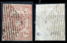 Svizzera--MF-0004 - 1851 - Y&T: N. 23 (o) - Privo Di Difetti Occulti. - 1843-1852 Poste Federali E Cantonali