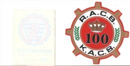 Autocollant - R.A.C.B. - K.A.C.B. 100 Ans - A.C.L. Automobile Club Du Grand Duché De Luxembourg - Voitures