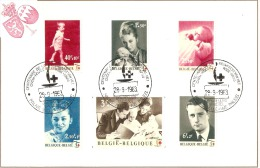 Belgique 1963 - MK COB 1262/1268 Centenaire De La Croix-Rouge Internationale  A - FDC