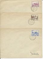 JERSEY OCCUPATION ALLEMANDE - 1943 - 3 ENVELOPPES Pour HAMBURG - Jersey