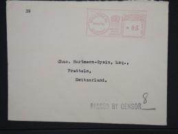 CANADA-Enveloppe De Montreal Pour La Suisse En 1940 Avec Censure Obli Mécanique    à Voir P6317 - Cartas