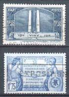 France 1936-1937 Mi 323 & 362 - Frankrijk