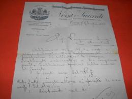 B621 Carta Intestata Societa' Conserve Alimentari Torino - Vecchi Documenti