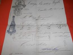 B621 Carta Intestata Canelli Luigi Bosca Vini Presenza Di 3 Piccoli Fori - Vecchi Documenti