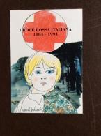 CROCE ROSSA ITALIANA CARTOLINA VERONAFIL 1994 - CON ANNULLO SPECIALE - BOZZETTO DI NANI TEDESCHI - Croce Rossa