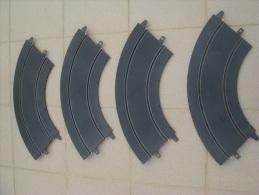SCALEXTRIC : 4 Rails Courbes, 90°, R 30 (091011), Circuit S, Brevet Déposé 78 35 256 - Circuits Automobiles