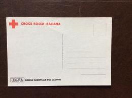 CROCE ROSSA ITALIANA CARTOLINA  Aiutiamoli A Sorridere... - Sponsos  BNL BANDA NAZIONALE DEL LAVORO - Croce Rossa