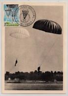 Belgique, 1960, Maximum Card, Parachutisme, FDC, Bruxelles, 13-6-60 - Paracadutismo