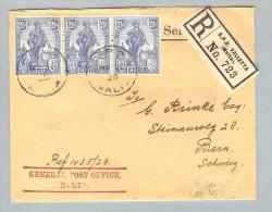 Malta 1926-03-20 R-Brief General Post Office Nach Bern - Malte