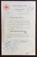 CRI - COMITATO CENTRALE ROMA - LETTERA AI COMUNI PER  LìOFFERTA ANNO 1903 - RARO DOCUMENTO ORIGINALE - Croce Rossa
